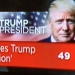 Donald J. Trump new USA president TV news Photo: ifeelstock © 2016