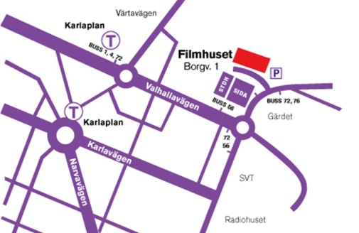 Map of the Film House Photo: © SFI