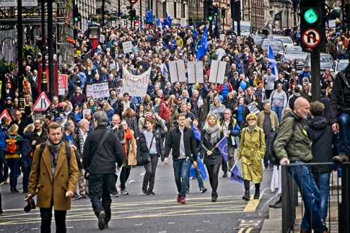 Anti-Brexit march in London on Saturday 23rd March 2019 Photo: Garry Knight © Flickr CC