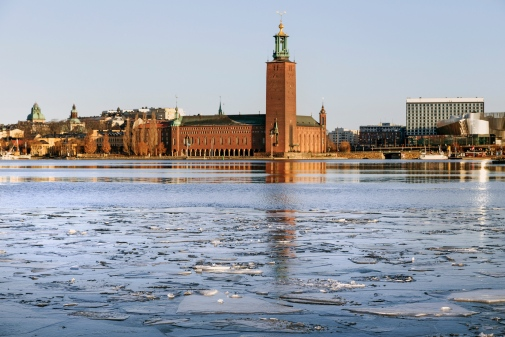 Early morning in Stockholm with the City Hall in the background. Photo: Instamatic © Mostphotos